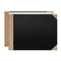 プラス とじ込表紙 B4ヨコ 267×374mm 4穴 FL-004TU 77151 1袋(5組入)