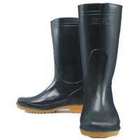 おたふく手袋 耐油長靴 黒 25.0cm 1足 (直送品)