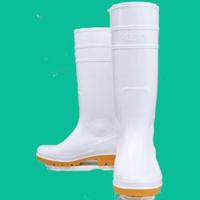 おたふく手袋 ロングタイプ耐油長靴 白 24.0cm 1足 (直送品)