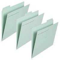 プラス カットフォルダー マチなし 3山 ブルー FL-063IF 87205 1セット(30枚:3枚入×10袋)