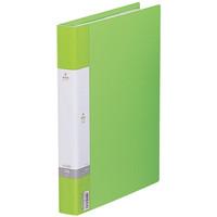 リヒトラブ リクエスト 名刺帳 500名用 黄緑 ヨコ入れ G8802-6 1セット(3冊:1冊×3)