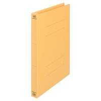 プラス フラットファイル厚とじ A4タテ 100冊 イエロー No.021NW 樹脂製とじ具