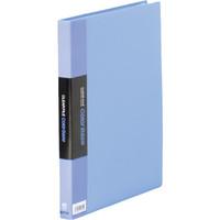 キングジム クリアーファイルカラーベース(タテ入れ) A4タテ 40ポケット 青 1箱(10冊入)