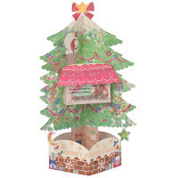 クリスマスカード ツリー グリーン 立体