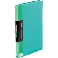 キングジム クリアーファイルカラーベース(タテ入れ) A4タテ 40ポケット 緑 1箱(10冊入)
