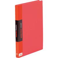 キングジム クリアーファイルカラーベース(タテ入れ) A4タテ 40ポケット 赤 1箱(10冊入)