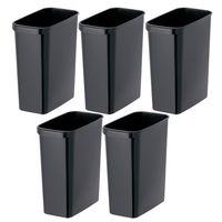 リス くず入れ 角型 18L ゴミ箱 ブラック 1セット(5個)