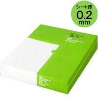 クリアホルダー A4(再生) 1袋(100枚) アスクル ファイル