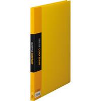 キングジム クリアーファイルカラーベース(タテ入れ) A4タテ 20ポケット 黄 1セット(30冊:10冊入×3箱)