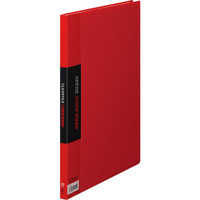キングジム クリアーファイルカラーベース(タテ入れ) A4タテ 20ポケット 赤 1セット(30冊:10冊入×3箱)