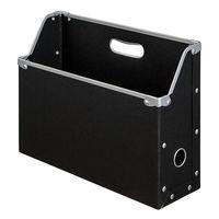 ボックスファイル A4ヨコ 6個 パルプボード ブラック アスクル