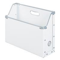 ボックスファイル A4ヨコ 20個 パルプボード ホワイト アスクル