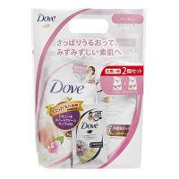 ダヴ(Dove) ボディウォッシュ(ボディソープ) ハーモニー ピーチ&スイートピー 詰め替えセット(360g×2)+サシェ(10g) ユニリーバ