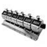 ライン精機 台付連式数取器(6連) H-102M-6 1個 (直送品)
