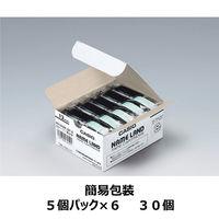 カシオ ネームランドテープ 12mm 白テープ(黒文字) 1セット(30個:5個入×6パック)  XR-12WE-5P