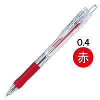 ゼブラ タプリクリップボールペン 0.4mm 赤 BNH5-R 1本