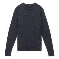 無印 再生ウール混丸首セーター 紳士 M