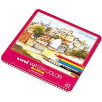 三菱鉛筆(uni) 水彩色鉛筆 ユニウォーターカラー 24色 UWC24C 1箱(3セット入) (取寄品)