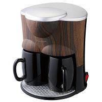 【アウトレット】木目調2カップコーヒーメーカー CMR-50B 1台 ドウシシャ