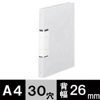 アスクル クリアファイル 差し替え式 10冊 A4タテ背幅26mm ユーロスタイル クリアホワイト