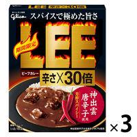 江崎グリコ ビーフカレーLEE(リー)レトルト 辛さ×30倍 1セット(2個)