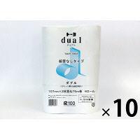 トイレットペーパー 6ロール入×8パック 再生紙 ダブル 75m 芯なし デュアル 1箱(48ロール入) トーヨ