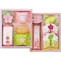 【アウトレット】花がさね HAG20 ギフトセット(石鹸5種+入浴料1種+洗顔石鹸2種+ボディソープ) マスター
