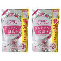 【特別価格】ソフラン プレミアム消臭プラス 心華やぐフローラルアロマの香り 詰め替え 特大サイズ 1440ml 1セット(2個入)柔軟剤 ライオン
