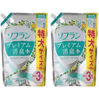 ソフラン プレミアム消臭プラス 気分爽やかフルーティグリーンアロマの香り 詰め替え 特大サイズ 1440ml 1セット(2個入) 柔軟剤 ライオン