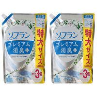 ソフラン プレミアム消臭プラス 気分晴れやかホワイトハーブアロマの香り 詰め替え 特大サイズ 1440ml 1セット(2個入) 柔軟剤 ライオン