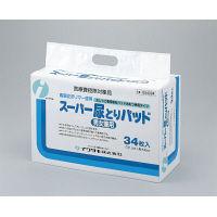 イワツキ スーパー尿とりパッド 男女兼用 005-054004 1箱(34枚入×8パック) (取寄品)