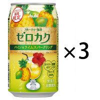 アサヒ ゼロカク 期間限定 パイン&ライムスパークリング 350ml 3缶