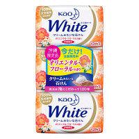 花王石鹸ホワイト 沖縄限定 オリエンタルフローラルの香り バスサイズ 1パック(3個入) 130g×3個 花王