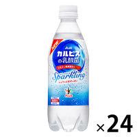 アサヒ飲料 おいしい水プラス「カルピス」の乳酸菌スパークリング 500ml 1箱(24本入)