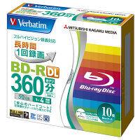 三菱ケミカルメディア 1回録画用 ブルーレイディスク 260分 1-4倍速 BD-R DL 10枚ケース プリンタブル VBR260YP10V1