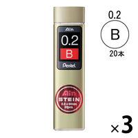 ぺんてる Ain替芯 シュタイン 0.2mm B芯 C272-B 3ケース(20本入×3)