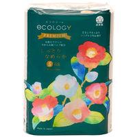 トイレットペーパー 6ロール 再生紙配合 シングル 170m 芯なし エコロジープレミアム パック包装 1パック(6個入) 特種東海エコロジー