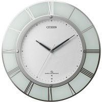 シチズン 高精度電波木枠掛時計 ホワイト