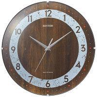 【アウトレット】リズム時計 コンセプトスタイル140 電波掛時計 茶 1個 8MYA34NC06