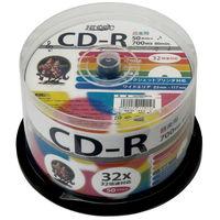 HIDISC 音楽用CD-R80分 700MB 32倍速対応スピンドルケース ワイドプリンタブル1ケース(50枚) HDCR80GMP50