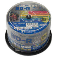 HI-DISC 1回録画用ブルーレイディスク 130分 6倍速 BD-R25GB ホワイトプリンタブル スピンドル1ケース(50枚) HDBDR130RP50