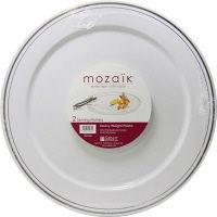 Mozaik(モザイク) ラウンドプラッター 34.1cm 1パック(2枚入) アームカンパニー