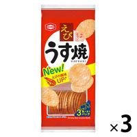 亀田製菓 えびうす焼 80g 3袋