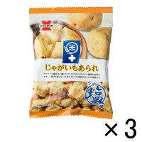 【アウトレット】岩塚製菓 米+じゃがいもあられ うす塩味 1セット(36g×3袋)