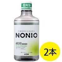 NONIO(ノニオ) マウスウォッシュ スプラッシュシトラスミント 600mL 1セット(2本) ライオン マウスウォッシュ
