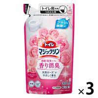 トイレマジックリン ツヤツヤコートプラス エレガントローズの香り 詰替330mL  1セット(3個:1個×3)花王