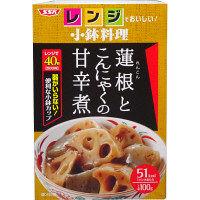 SSKセールス 【レンジでおいしい!小鉢料理】蓮根とこんにゃくの甘辛煮 100g 1個 <化学調味料無添加>