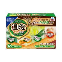 温泡 ぜいたくひのき浴 とろり炭酸湯 1箱12錠(4種×3錠入り) 入浴剤 アース製薬
