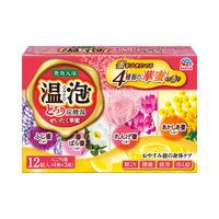 温泡 ぜいたく華蜜 とろり炭酸湯 1箱12錠(4種×3錠入り) 入浴剤 アース製薬