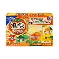 温泡 ぜいたく柑橘柚子 とろり炭酸湯 1箱12錠(4種×3錠入り) 入浴剤 アース製薬